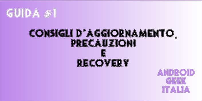 Guida #1 Recovery