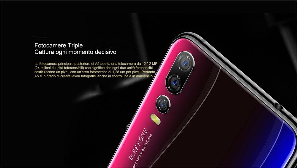 Elephone A5: Smartphone con 5 fotocamere in esclusiva su Gearbest